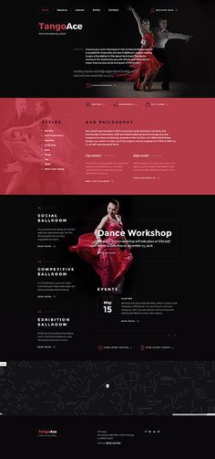 Template 58589 - Tangoace Dancing Responsive Website Template