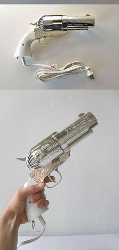 Pistol Shaped Hair Dryer. This is so awesome!