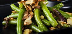 Green Beans With Mushrooms & Almonds on MindBodyGreen