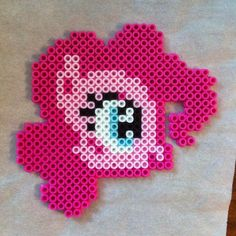 MLP Pinkie Pie perler beads by thefatunicorngirl
