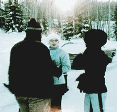 Priscilla with Lamar and Nora Fike on vacation in Aspen, Colorado, January 24, 1969