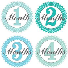 Custom Designed Printable Fancy Blue Monthly Baby Stickers. INSTAND DOWNLOAD!!! Includes a FREE set of Newborn Stickers. Only $3.50 on Etsy.  I recently started a Facebook Page.   https://www.facebook.com/dcartdesign.stpete  Become a friend for a chance to win monthly giveaways! I will also be offering designs tips and other printable information.
