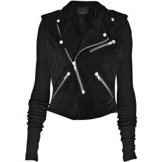 Alexander Wang Suede biker jacket ($705) ❤ liked on Polyvore featuring outerwear, jackets, tops, coats, studded moto jacket, alexander wang jacket, zip jacket, suede moto jacket and studded jacket