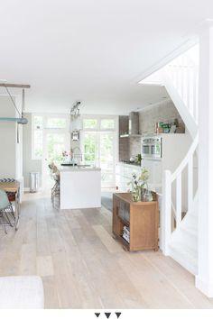 Cocina abierta con un toque industrial - Comodoos Interiores