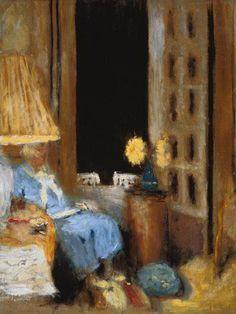 Édouard Vuillard - La Lecture de Madame Hessel devant una Fenêtre Ouverte