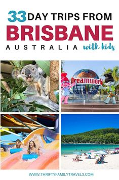 Best Day Trips from Brisbane: Click the link for tips on the best Brisbane day trips covering the Sunshine Coast, Gold Coast and Brisbane attractions. Australia Honeymoon, Australia Travel Guide, Queensland Australia, Western Australia, Brisbane Attractions, Travel With Kids, Family Travel, Things To Do In Brisbane, Travel Humor