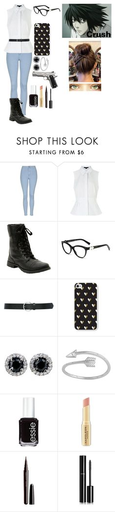 """""""Death note oc #2"""" by gglloyd ❤ liked on Polyvore featuring Topshop, Alexander Wang, M&Co, Brika, Midsummer Star, Essie, Napoleon Perdis, Marc Jacobs and Chanel"""