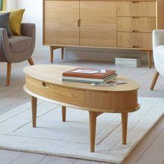 Skandi Oak Coffee Table with Drawer #Dunelm #Decor #Home