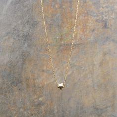 Collier fin plaqué or 14 carats & pendentif étoile