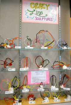 Kids Art Activity: crazy line sculptures -- base is model magic