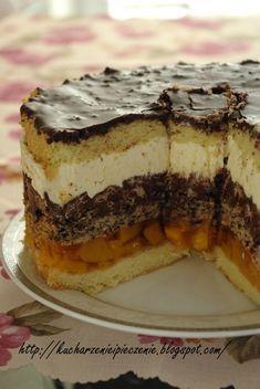Ciasto brzoskwiniowe z Nutellą składające się z wielu pysznych warstw Cookie Desserts, Vegan Desserts, Torte Cake, Vegan Kitchen, Irish Recipes, No Cook Meals, Nutella, Cupcake Cakes, Cake Recipes