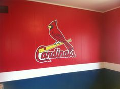 St. Louis cardinals baby room