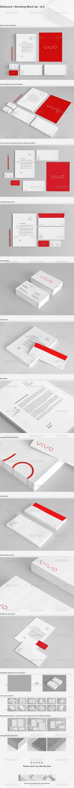 Stationery Branding Mock-Up free psd resources to download  http://psdsonar.com/stationery-branding-mock-up/