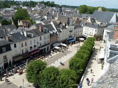 looking down onto township of Amboise, a lovely town to spend a few days in