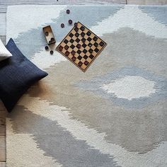 549-- 8'x8'-- texture-- could work great with the focal wall Safi Wool Rug #westelm