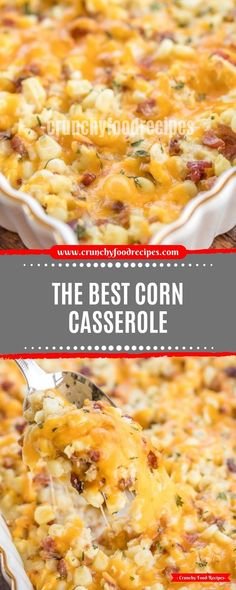 The fine Corn Casserole - critically delicious! Creamed corn loaded with cheddar and Beaverbrook! Thanksgiving Side Dishes, Thanksgiving Recipes, Holiday Recipes, Thanksgiving 2020, Casserole Recipes, Crockpot Corn Casserole, Best Corn Casserole Recipe, Cream Corn Casserole, Corn Dishes