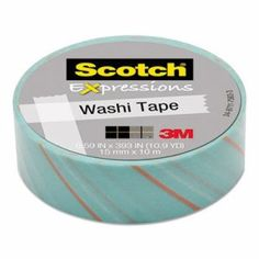 "Scotch Expressions Washi Tape, .59"" x 393"", Tie MMMC314P26"