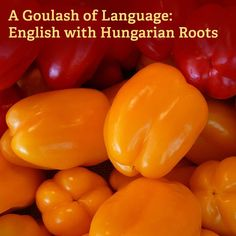 English words with Hungarian roots - great idea for a vocab lesson.