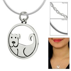 Dog Encircled Sterling Necklace at The Animal Rescue Site