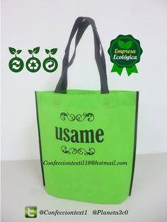 8ed16a7db Las 101 mejores imágenes de Bolsas ecologicas reciclables en tela ...