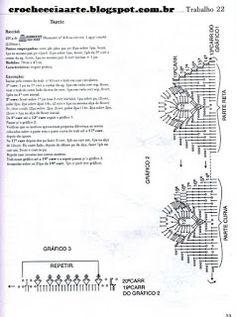 Crochê & Cia: Gráfico acabamento tapete oval pena de pavão