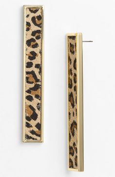 Belle Noel Leopard Print Suede Statement Earrings available at Nordstrom