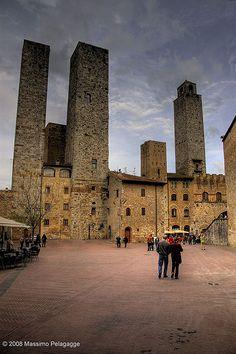 San Gimignano Toscana by Massimo Pelagagge, via Flickr