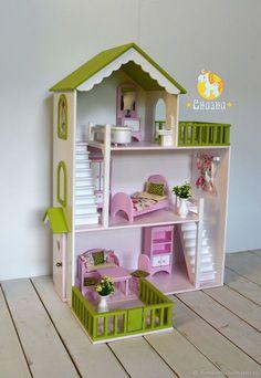 Diy Barbie Furniture, Dollhouse Furniture, Kids Furniture, Wooden Dollhouse, Dollhouse Dolls, Barbie Doll House, Barbie Dolls, Barbie Miniatures, Doll House Plans