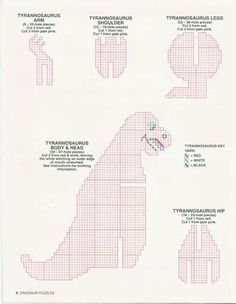 Dinosaur puzzles Dinosaur Pattern, Dragon Pattern, Dinosaur Puzzles, Kids Puzzles, Plastic Canvas Crafts, Plastic Canvas Patterns, Toys For Boys, Kids Toys, Canvas Learning
