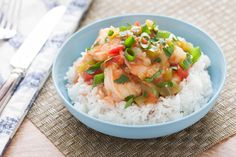 New Orleans-Style Shrimp Etoufee with Jasmine Rice. Visit http://www.blueapron.com/ to receive the ingredients.