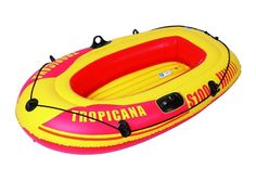 Inflatable Boats Sailing Dinghy 2 Person Boat Complete With Grab Line Oar Locks
