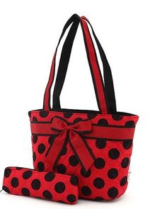 lady bug insulated lunch tote