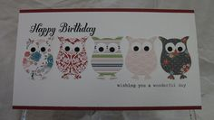 Julia's Cards: Owls, Owls and Eyes!!!