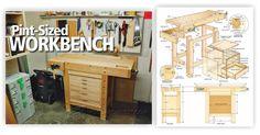 Compact Workbench Plans - Workshop Solutions Plans, Tips and Tricks | WoodArchivist.com