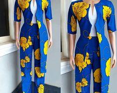 Ankara Dress/ Lace Dress/ Ankara Fusion/ Fringe Dress | Etsy