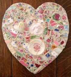 English Scenery  Mosaic Heart by susanjenkinsart on Etsy