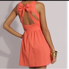 Open Back Dress with Bow - Cute Dresses Cute Dresses, Cute Outfits, Summer Dresses, Dresses Dresses, Backless Dresses, Summer Clothes, Backless Bra, Summer Outfits, Dress With Bow