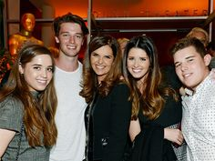 maria shriver's children   Executive producer Maria Shriver (C) is flanked by her children from ...