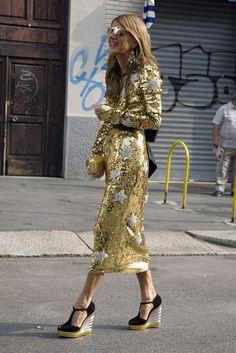 Anna Dello Russo in Dolce & Gabbana   Street Fashion   Street Peeper   Global Street Fashion and Street Style