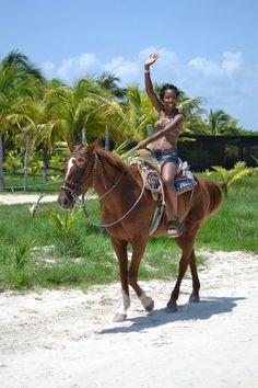 Horseback Riding near #Cancun