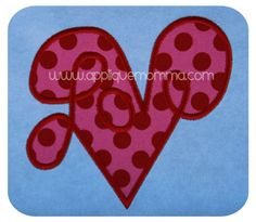 Love Heart Applique Design