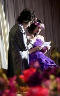 髪飾りを ドレスの色に合わせた こだわりのクレイ フルオーダー