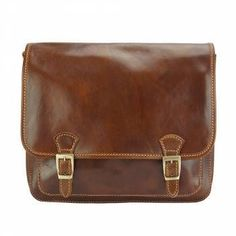 Elegance and practicality are the hallmarks of this Firenze Italisn leather messenger bag. Crafted of the historical Vacchetta leather, this supple bag gives a Handbags For Men, Leather Handbags, Man Bags, Men's Wardrobe, Italian Leather, Messenger Bag, Satchel, Mens Fashion, Products
