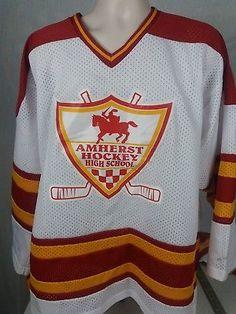 Vintage Amherst N.Y. High School HOCKEY JERSEY XL Made in USA Buffalo N.Y. Area