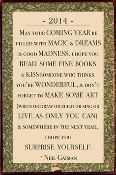literary new year saying