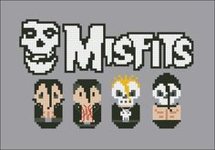 Misfits rock band parody Cross stitch PDF by cloudsfactory