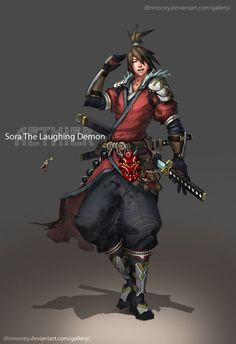 Aethier - Sora by dinmoney.deviantart.com on @deviantART, dual, sword, asian
