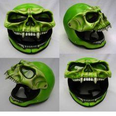 Skeleton Skull Fullface 3D Airbrush Motorcycle Helmet. NEW/M-L-XL