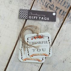 THANKSGIVING GIFT TAGS!  These old-fashioned-look Thanksgiving Gift Tags are created from my tiny watercolour paintings.