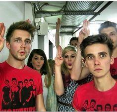 Youtubers at ITAtube........ and u gotta love how joe just like: WHATS GOIN ON